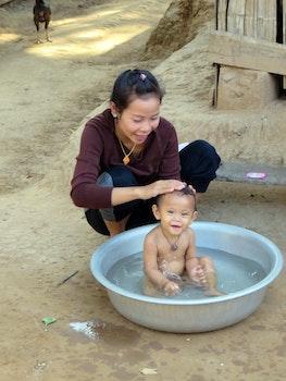 Free stock photo of village, family, tenderness, toilet