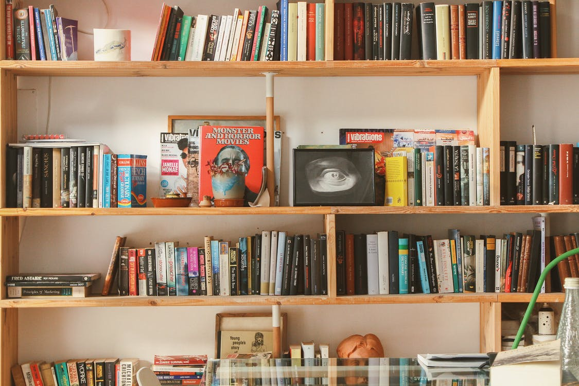 buku-buku, Perpustakaan, pustaka