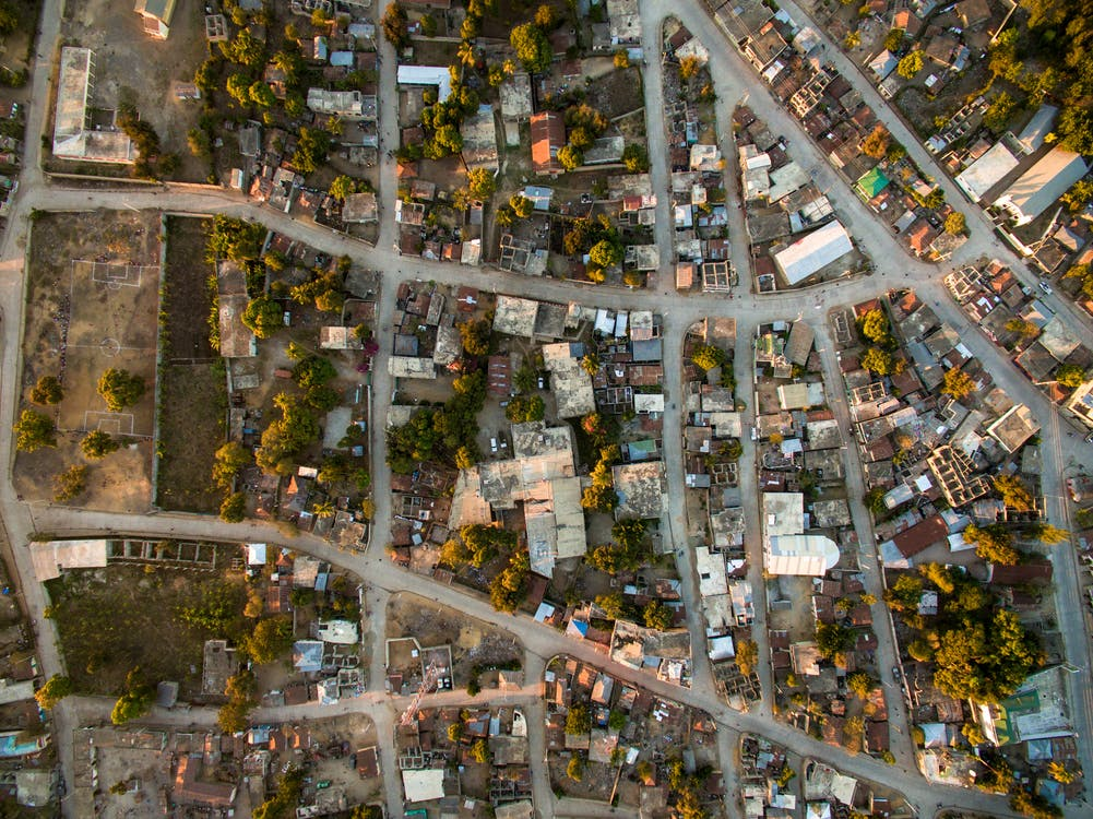 Aerial Photography of Assorted-color Buildings