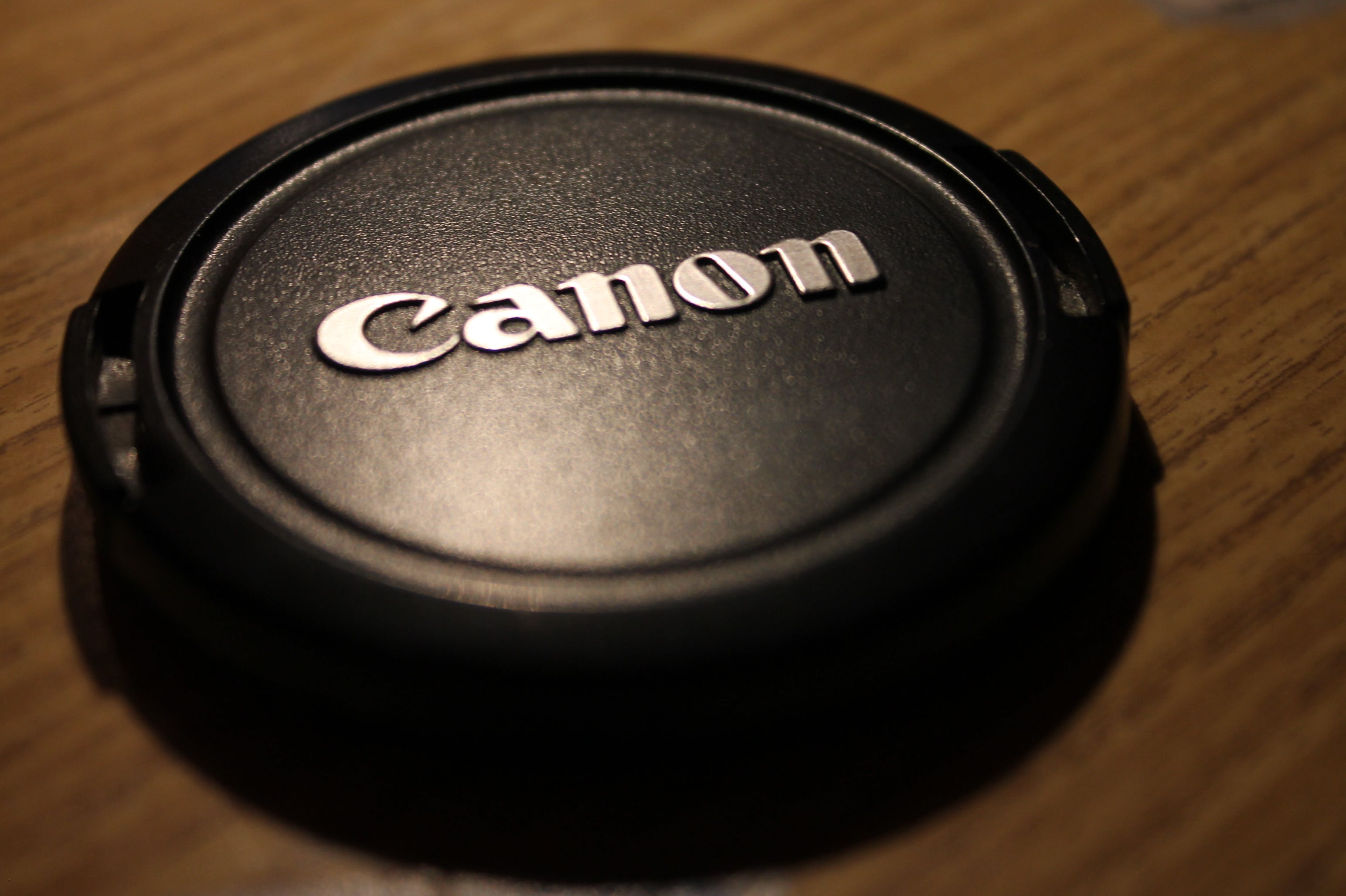 Black Canon Camera Lens Cover