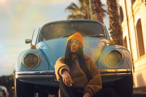 Foto profissional grátis de automobilístico, automóvel, Beetle, carro antigo