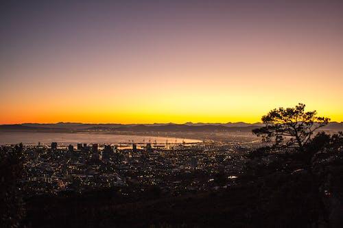Бесплатное стоковое фото с вид, восход, горизонт, город