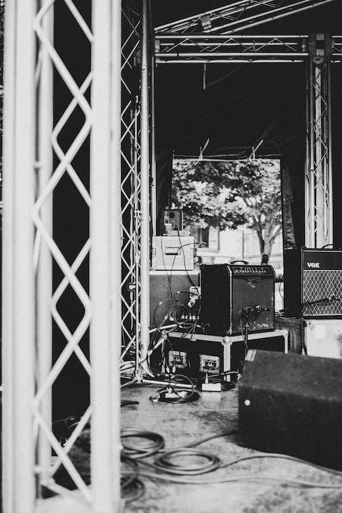 Foto d'estoc gratuïta de b/n, blanc i negre, festival de música, instrumental