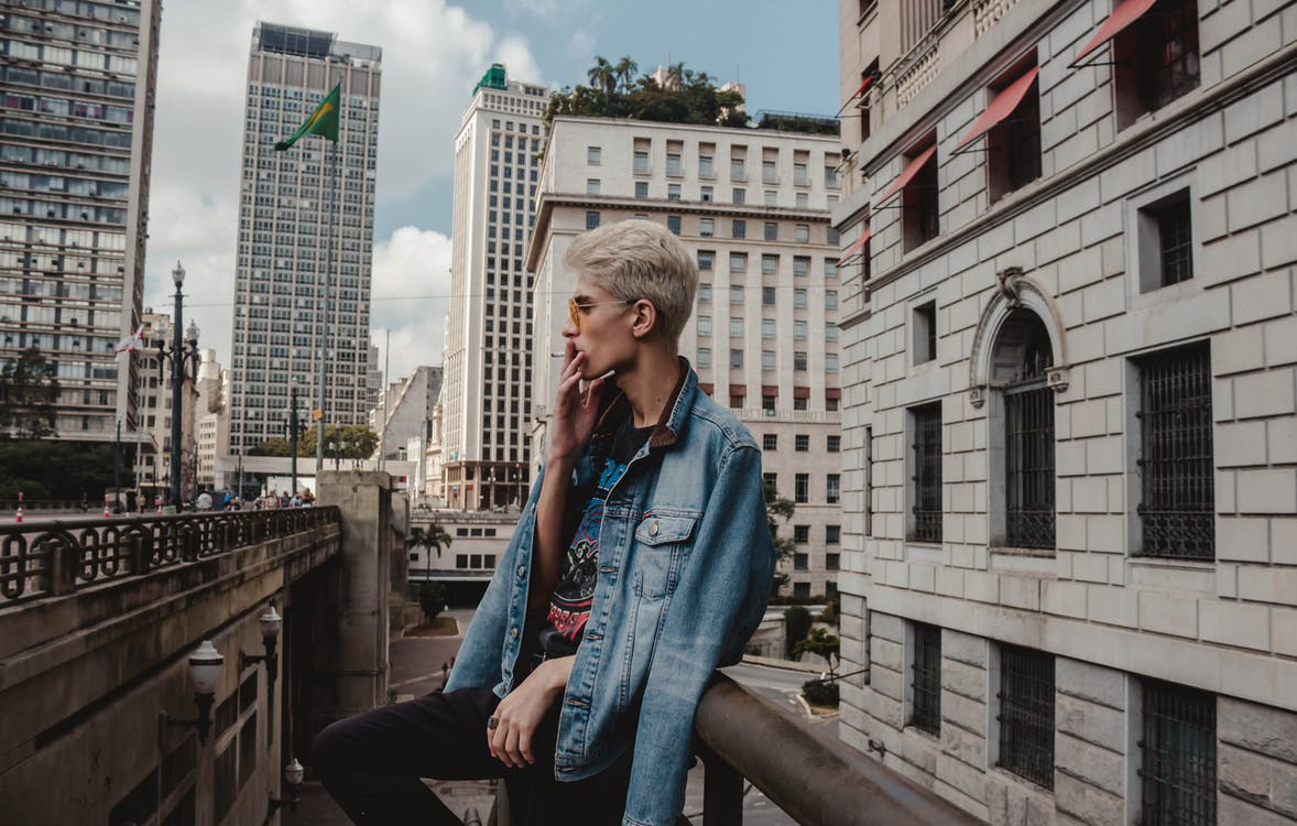 blond, blond vlasy, bočný pohľad
