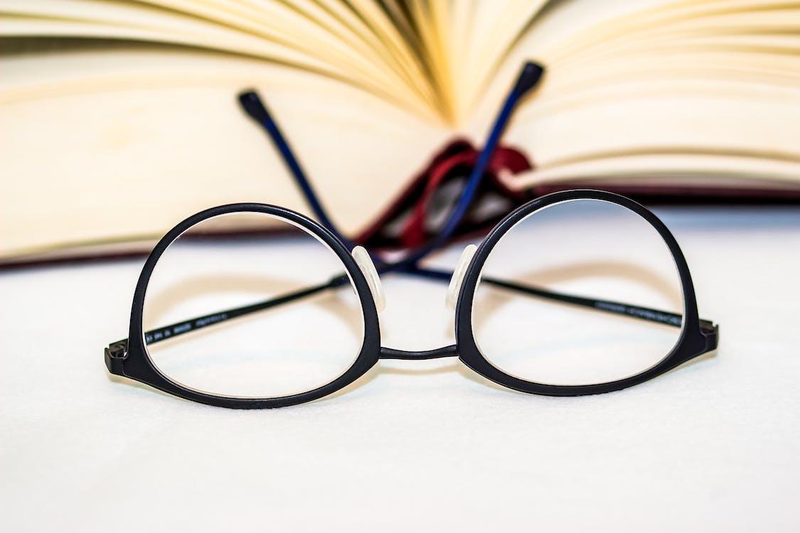 Black Framed Clubmaster-style Eyeglasses
