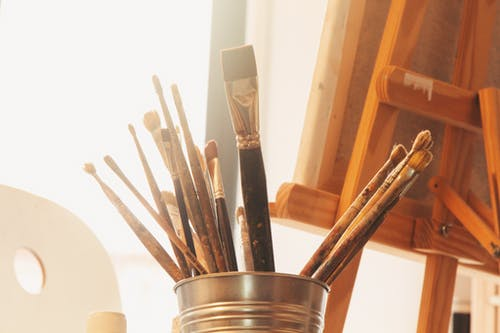 Assorted-color Paint Brushes