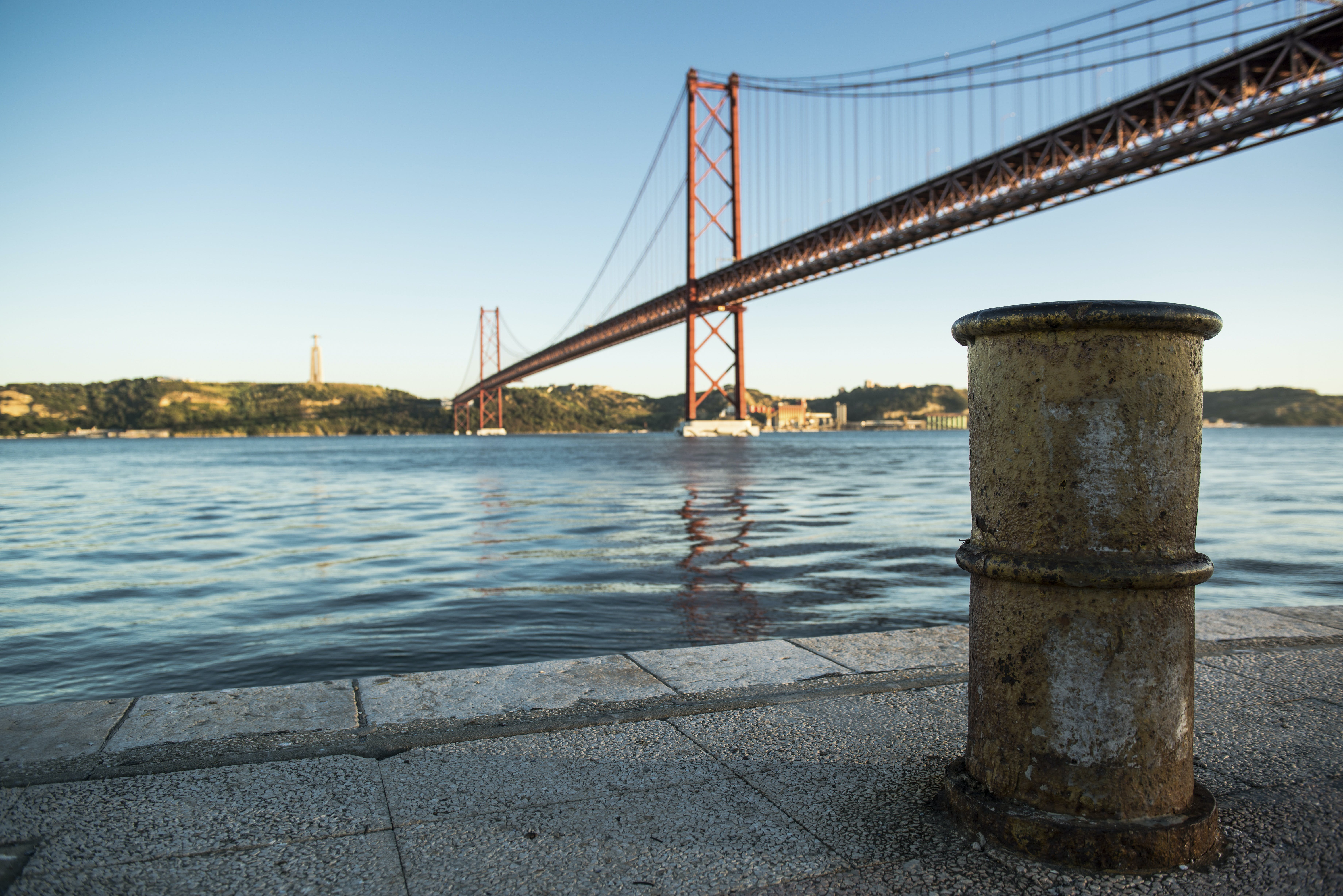 Suspension Bridge over Body of Water