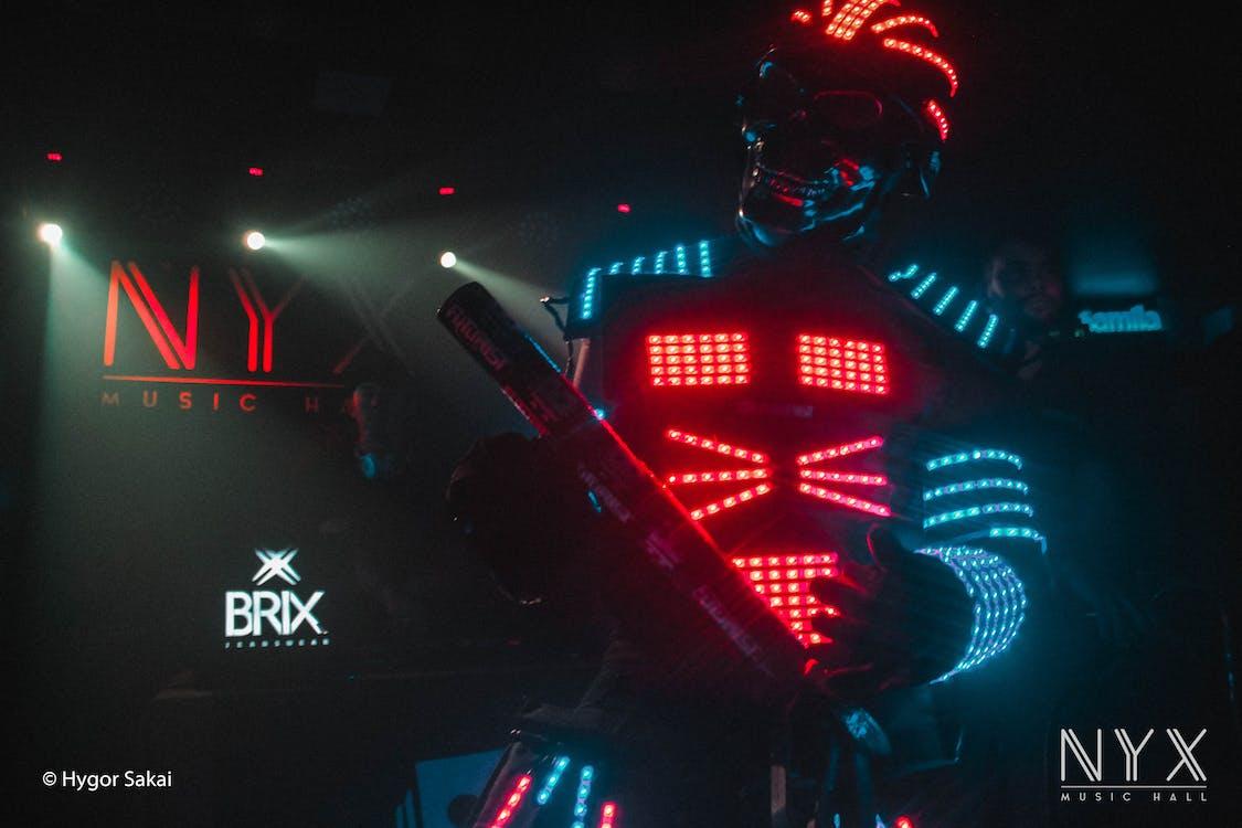 celebration, disco, neon light
