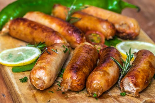 Cooked Sausages In Close-Up View