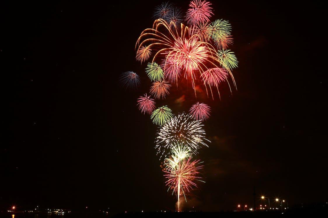 artificii, celebrare, colorat