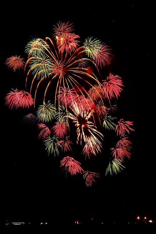 Red and Yellow Fireworks during Nighttime