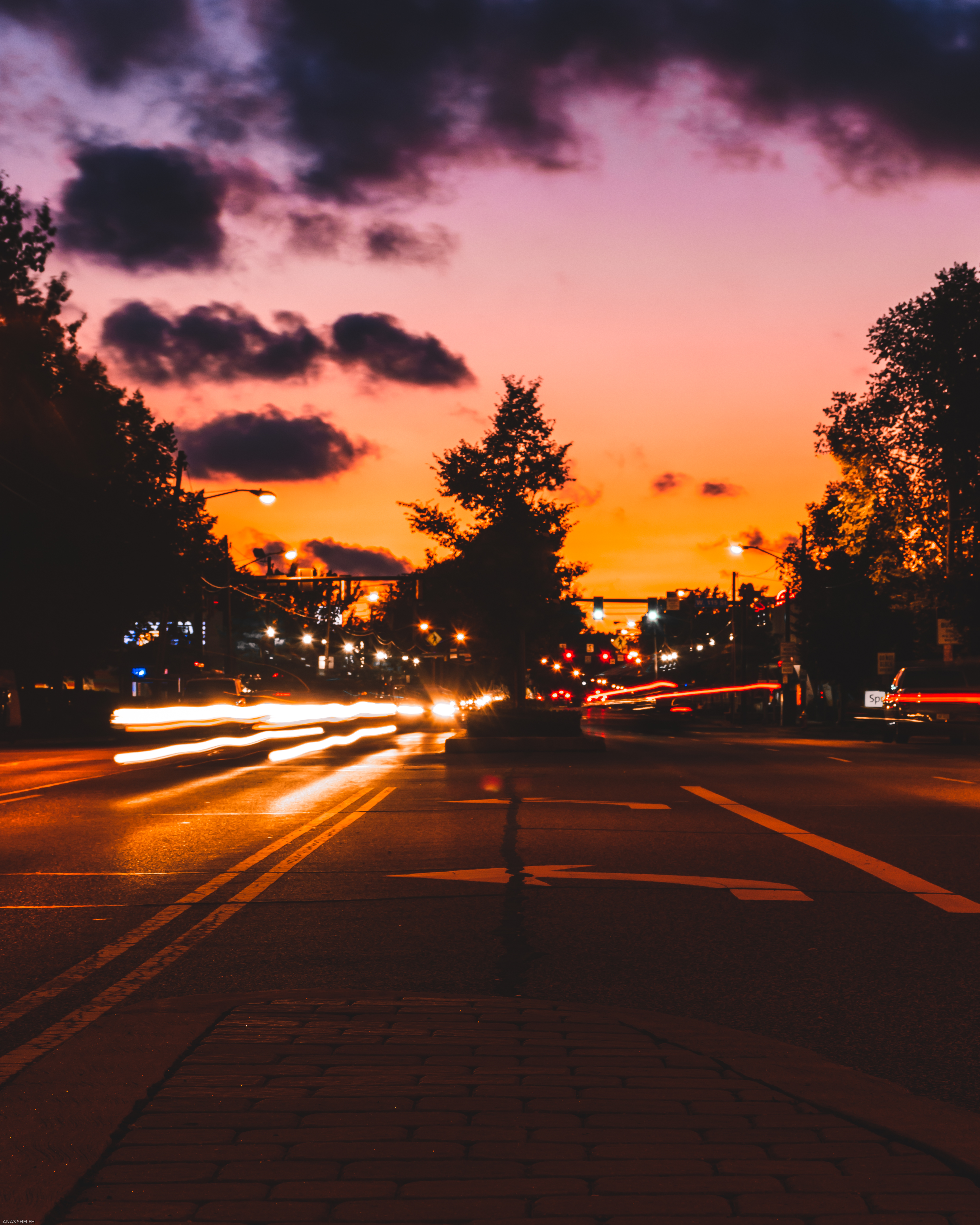 Time-Lapse Photo of Road During Golden Hour
