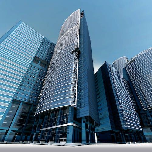 Gratis lagerfoto af arkitektur, blå himmel, by, bygninger
