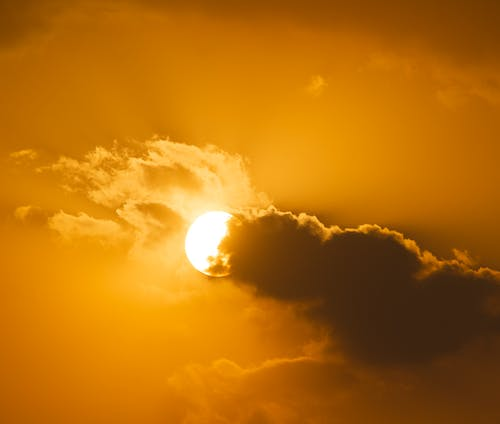 Free stock photo of clouds form, golden sun, sun