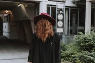 Woman Wearing Red Hat While Standing Outside