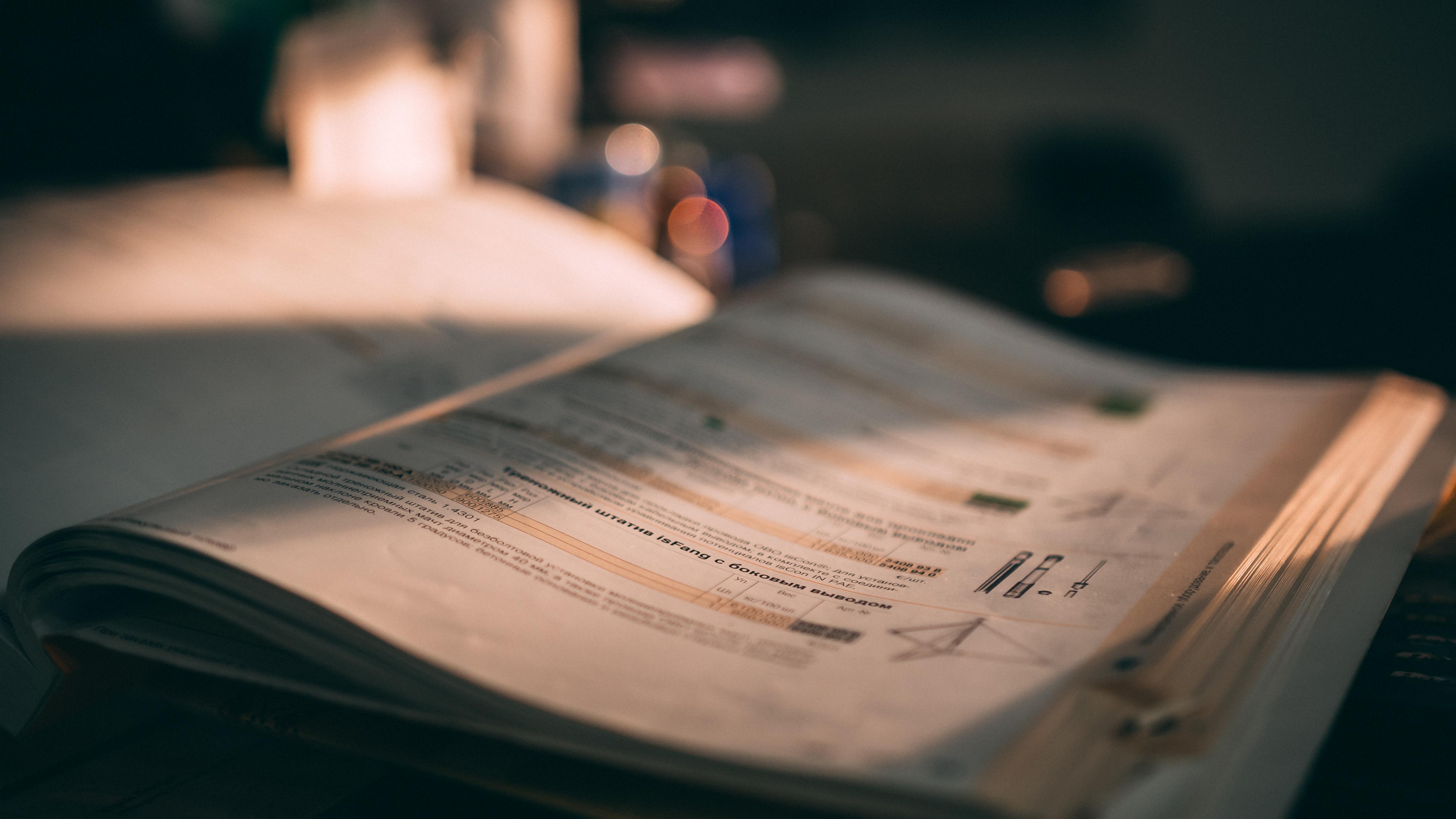 Close-Up Photo Of Book