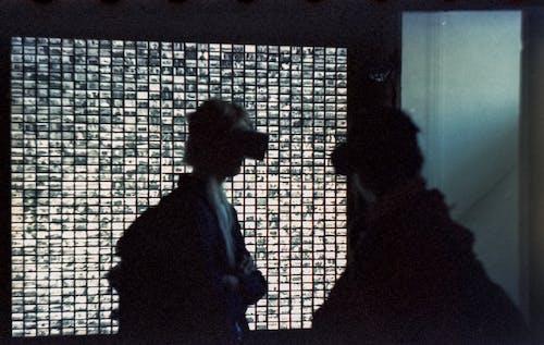 人, 剪影, 室內, 漆黑 的 免费素材照片