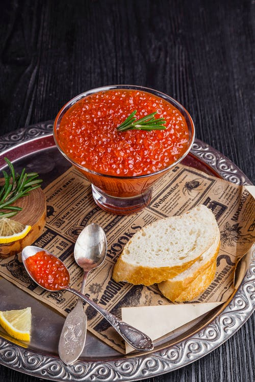 Red Sauce Beside Baked Bread