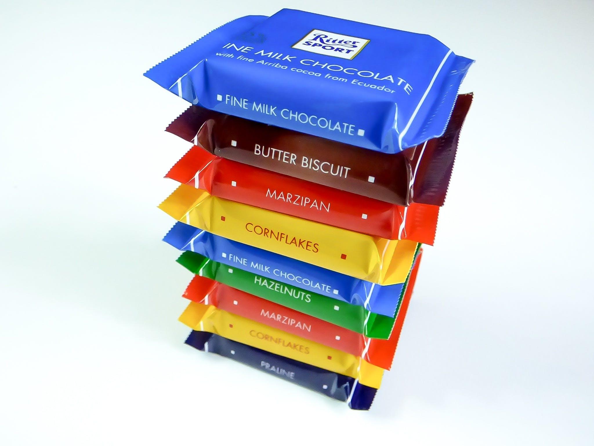 broget, chokolade, farverig