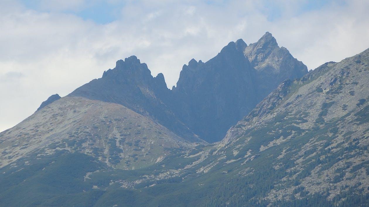 bergstoppar, höga tatra