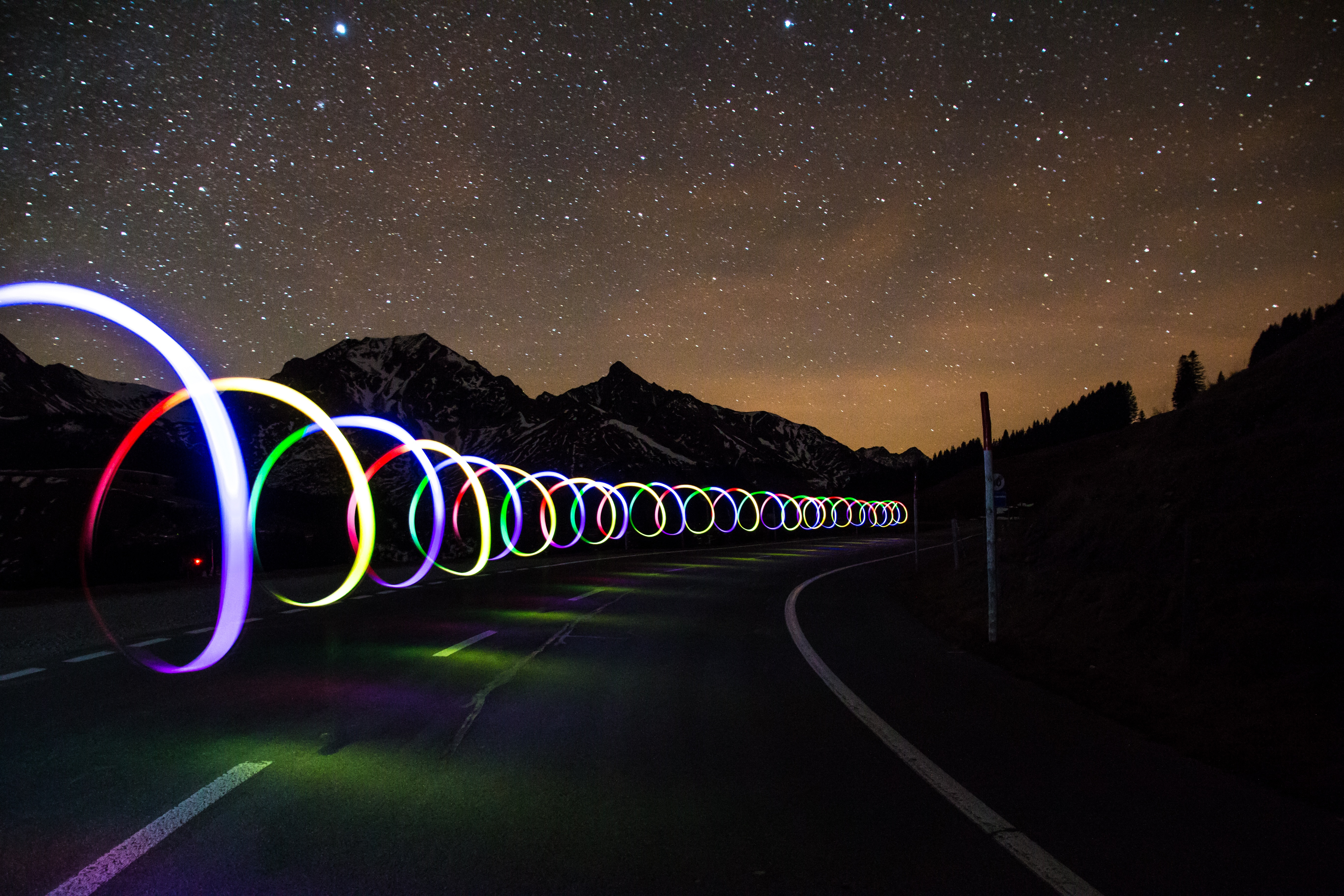 Lighted Roadside Rings