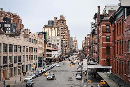 Free stock photo of city, cars, road, street