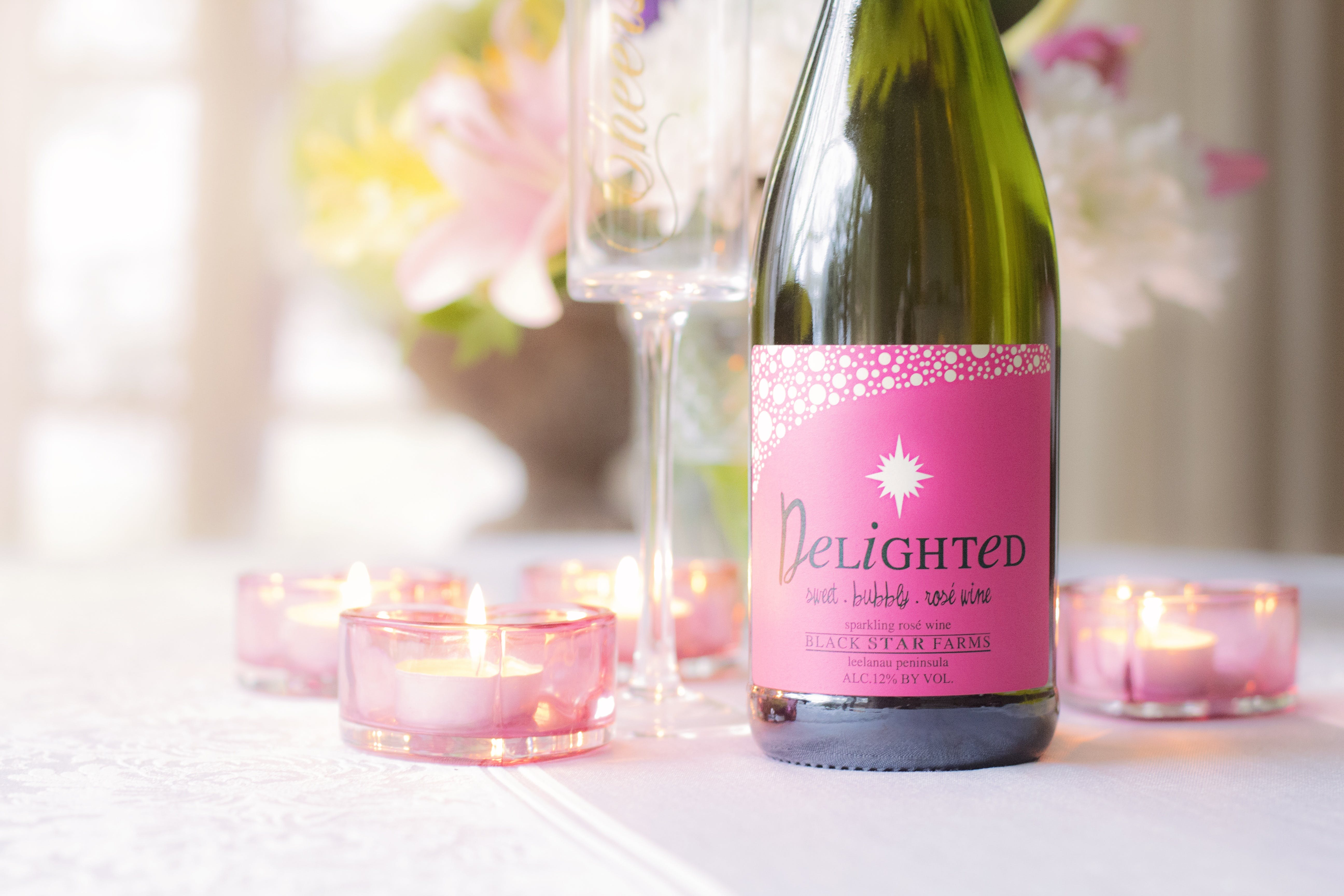 Delighted Wine Bottle