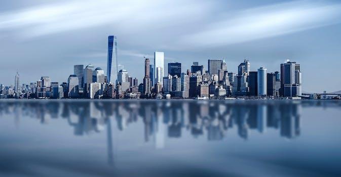 Black And White City Skyline Buildings