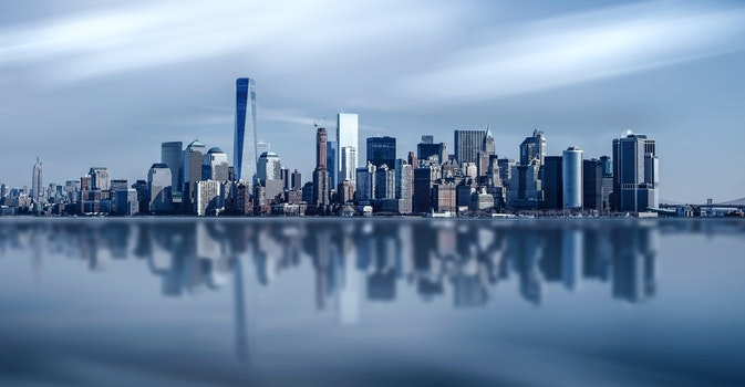 Free stock photo of city, water, skyline, buildings