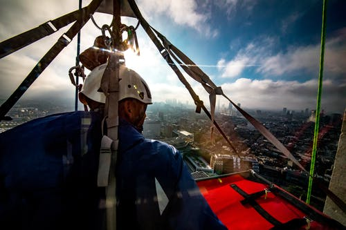 Free stock photo of climber, helmet, london, rigger