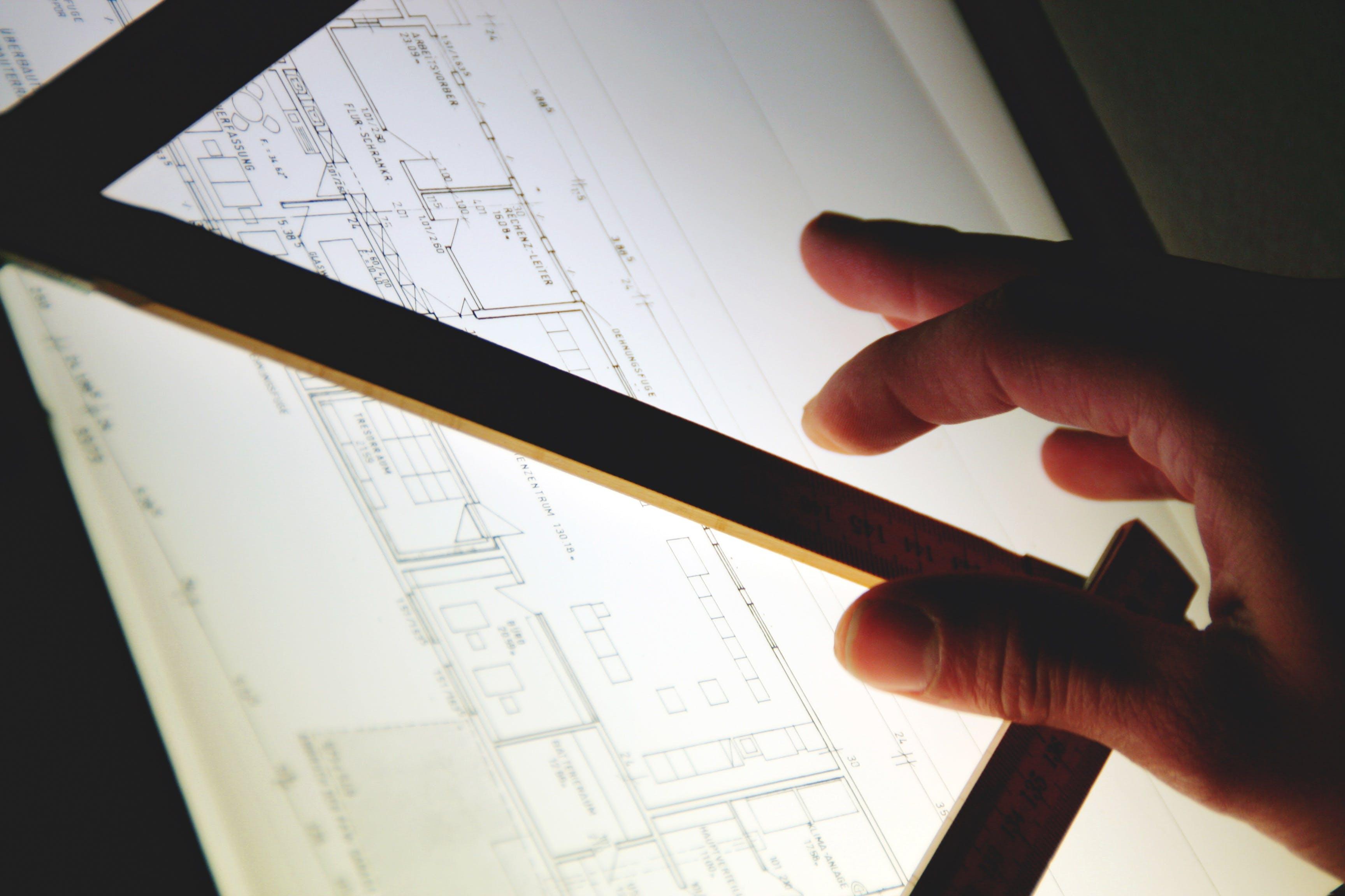 Free stock photo of hand, silhouette, architect, designer