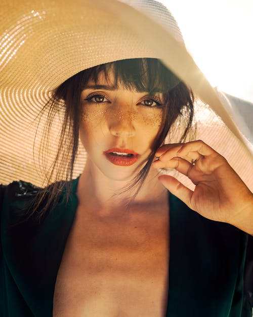 Photo of Woman Wearing Sun Hat
