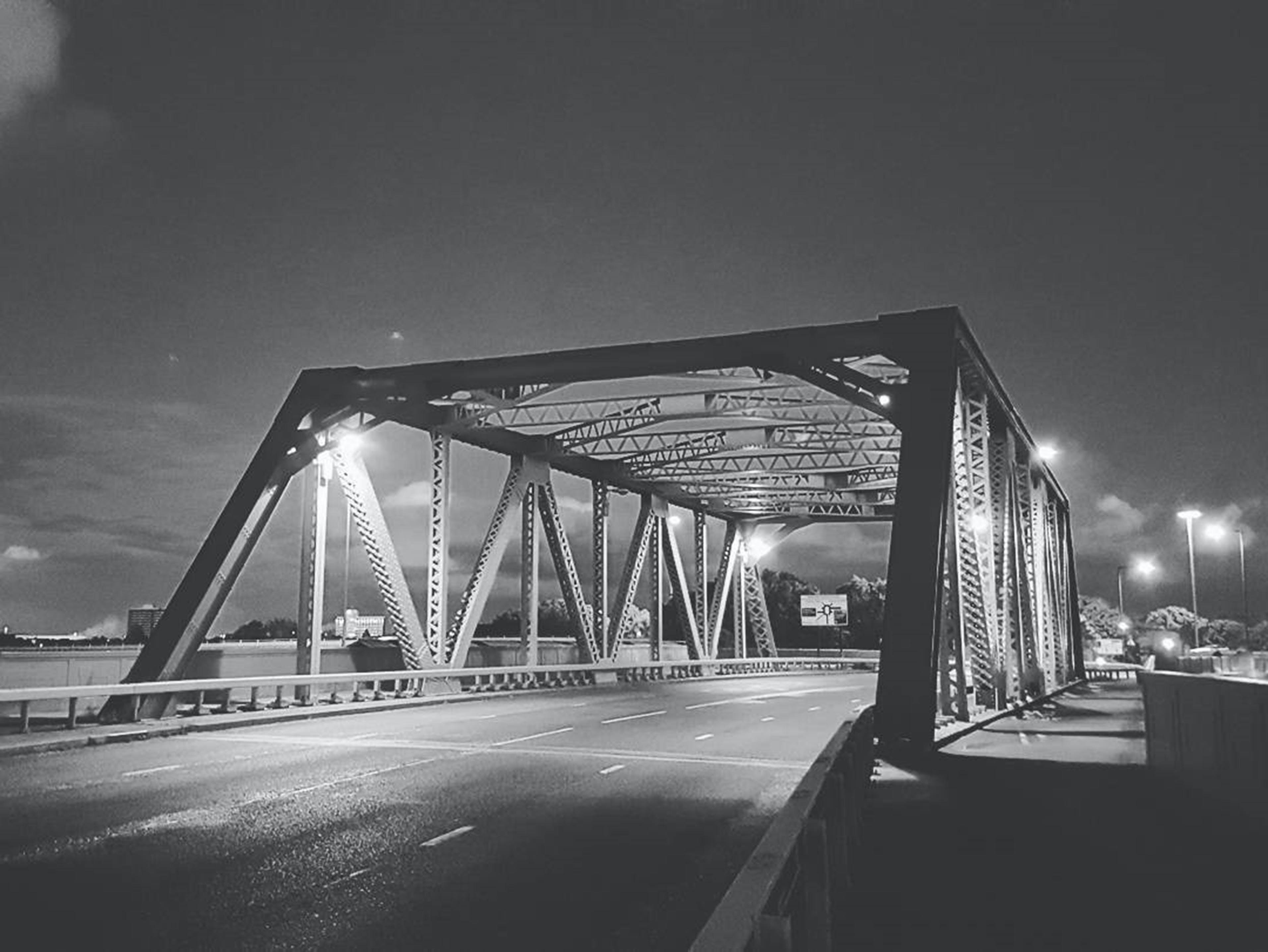 Free stock photo of black and white, bridge, city, lights