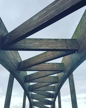 Free stock photo of wood, sky, construction, bridge