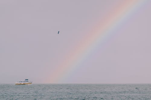 Photo of Rainbow Over the Ocean