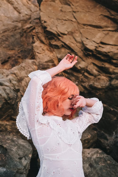 Photo Of Woman With Pink Hair