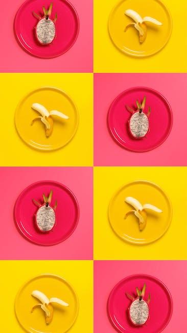 Banana and dragon fruit illustration