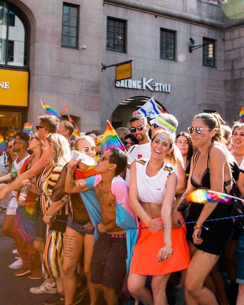 LGBT-h, お祝い, ほほえむ, カラフルの無料の写真素材