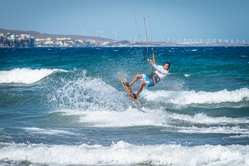Imagine de stoc gratuită din acțiune, agrement, distracție, kiteboarding