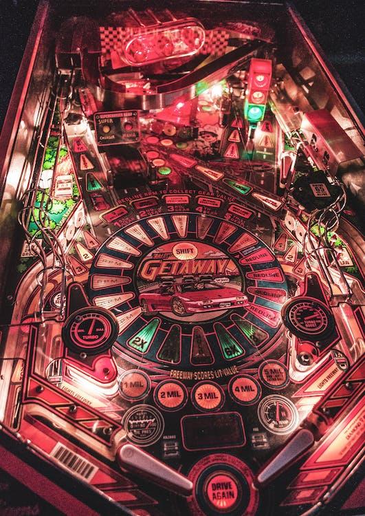 maszyna, rozrywka, światła