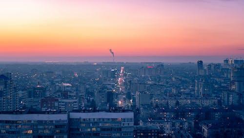 Photos gratuites de aube, caméra drone, ciel, citadin