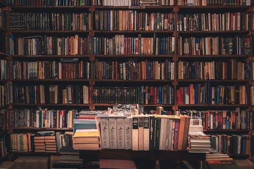 Fotobanka sbezplatnými fotkami na tému drevené police, kníhkupectvo, knihy, knižnica