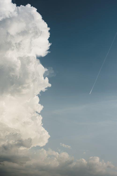 가벼운, 공기, 구름
