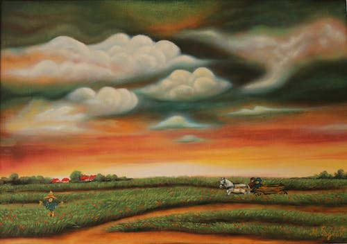 Free stock photo of naive, oil painting, serbia