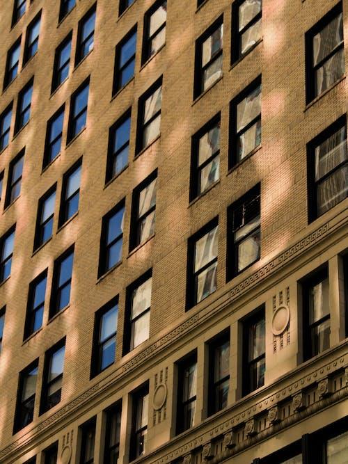Základová fotografie zdarma na téma apartmány, architektonické detaily, město new york, okna