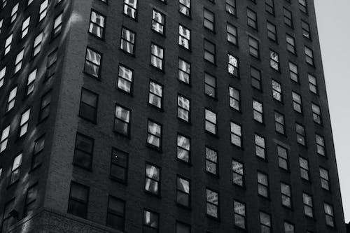 Základová fotografie zdarma na téma apartmány, budova, černobílá, město new york