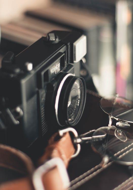 A Close-up Shot Of AN Analog Camera