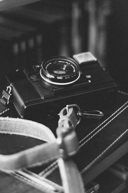 analog, analogt kamera, antik