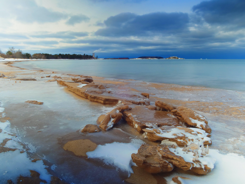 Free stock photo of beach, cold, ice, lake