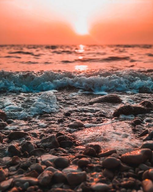 Gratis stockfoto met dageraad, golven, gouden uur, h2o